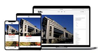 Encart publicitaire de l'application iOS/Android Edito
