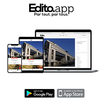 Encart publicitaire de l'application iOS/Android Edito